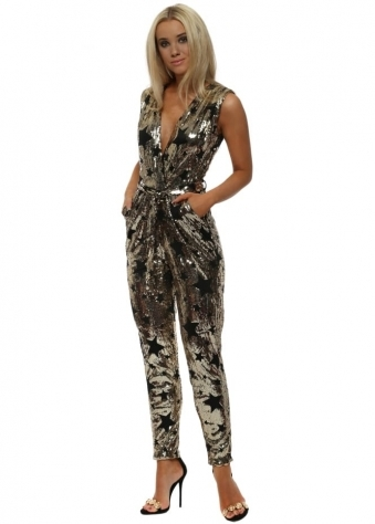 Gold Star Sequin Jumpsuit