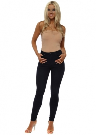 Midnight Blue Stretch Fit Skinny High Waisted Jeans
