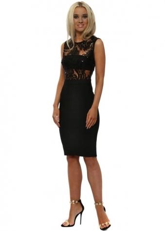 Stephanie Pratt Brocade Print Bodycon Dress