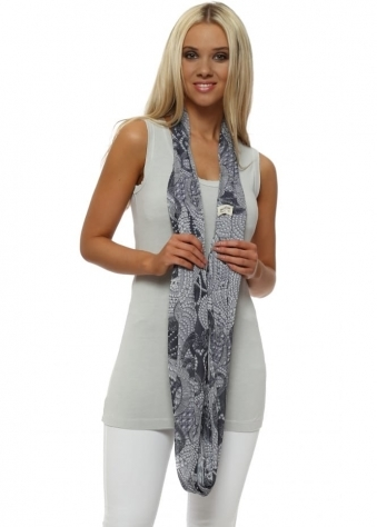Grey White Luxe Luxe Chiffon Snoodie