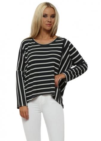 Bea Grey White Brighton Stripe Karma Top