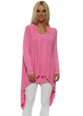 Fable Pinkest Waterfall Cardigan