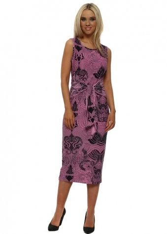 Lizzie Pinkest Luxe Luxe Tie Dress