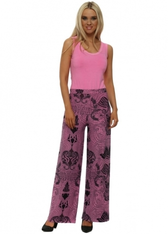 Lou Pinkest Luxe Luxe Wide Leg Trousers
