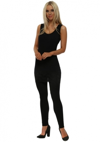 Anita Plain Black Jersey Leggings
