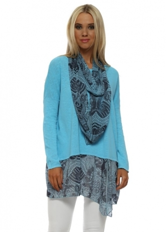 Sky Luxe Luxe Chiffon Snoodie