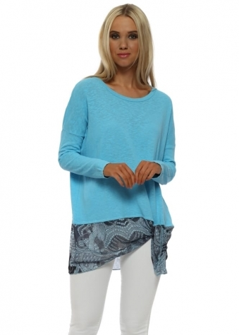 Lily Sky Luxe Luxe Asymmetric Slub Knit Top