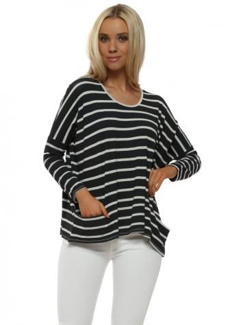 Becky Grey White Brighton Stripe Pammy Top