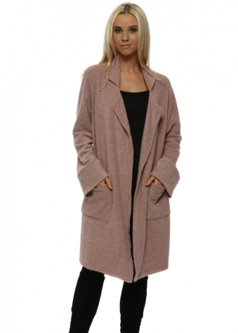 Courtney Poodle Wrap Coat In Tawny