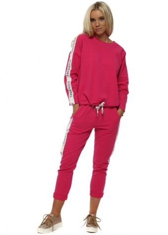 Bright Pink Cotton Better Bodies Tracksuit