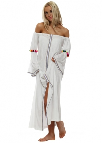 Off The Shoulder Gypsy Dress In White