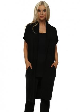 Pascale Premium Black Wool Gilet