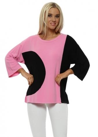 Opart Pinkest Half Moon Wide Sleeve Sweater