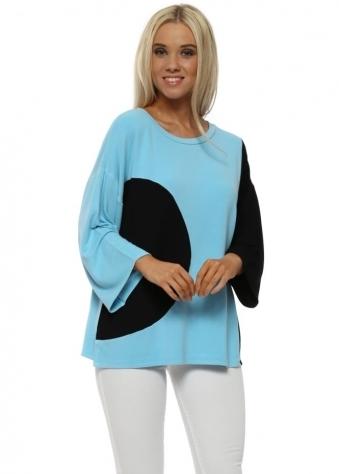 Opart Sky Half Moon Wide Sleeve Sweater