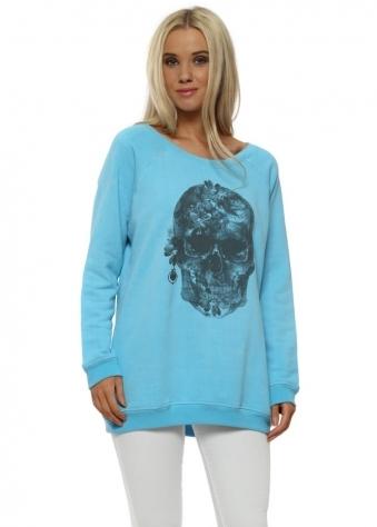 Sky Pretty Skull Sweater