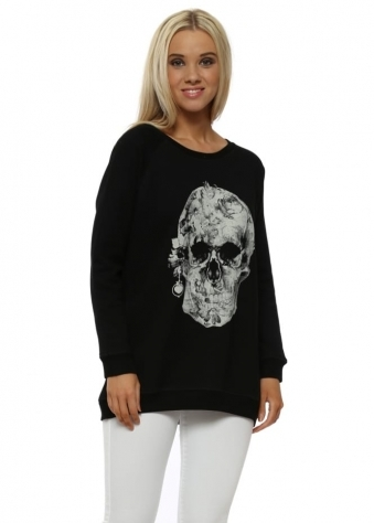 Black Pretty Skull Sweater