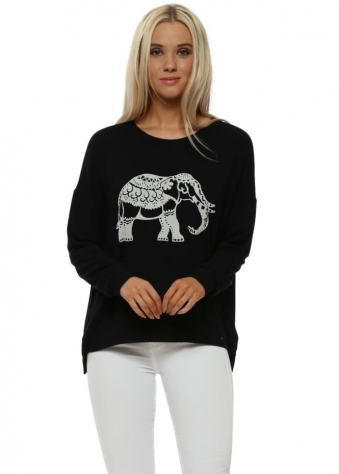 Black Elephant Boxy Fit Sweater