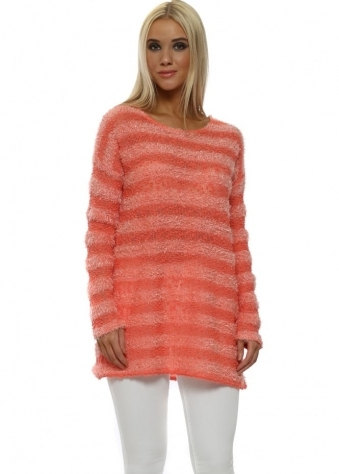 Lulu Melon Fluffy Long Sleeve Jumper