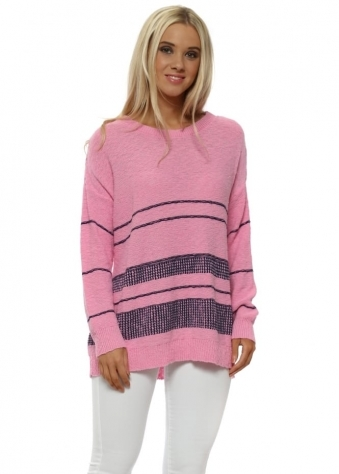 Lottie Pinkest Colour Block Jumper