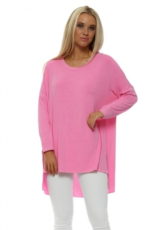 Sharnie Pinkest Contrast Tail Back Tunic Top