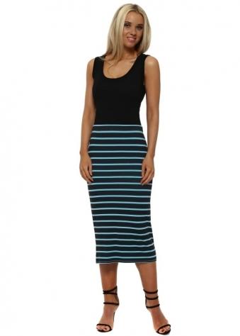 Buffy Sky Brighton Stripe Midi Skirt