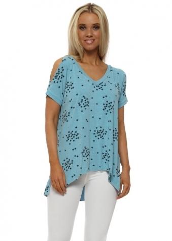 Sukhi Sky Starry Jersey Open Sleeve T-Shirt