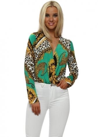 Green Cheetah Print Bodysuit