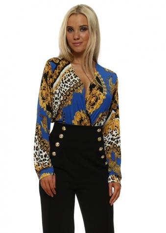 Blue Cheetah Print Bodysuit
