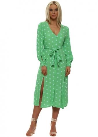Green Polka Dot Summer Tea Dress