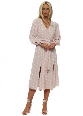 Baby Pink Polka Dot Summer Tea Dress