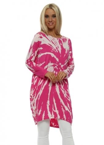 Hot Pink Tie Dye Jersey Tunic