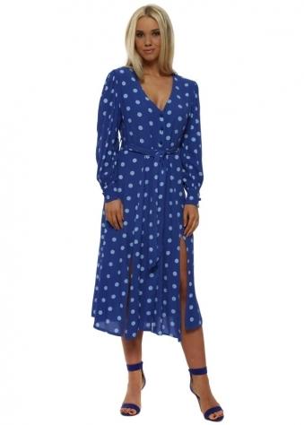 Blue Polka Dot Summer Tea Dress