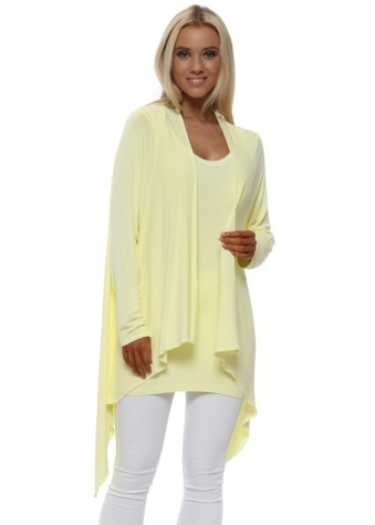 Fable Lemon Waterfall Cardigan