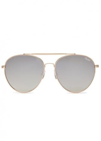 Lickety Split Gold Aviator Sunglasses