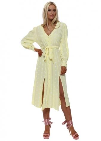 Yellow Polka Dot Summer Tea Dress