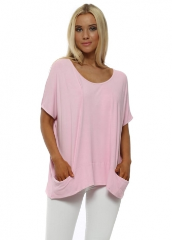 Blush Pink Sleeveless Pammy Slouch Jersey Top