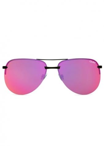 The Playa Pink Rimless Aviator Sunglasses