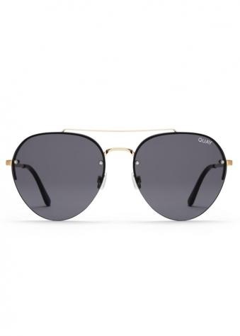 Somerset Gold Rimless Aviator Sunglasses