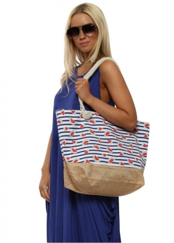 Watermelon Print Oversized Beach Bag