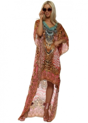 Pink Tigress High Low Kaftan Dress
