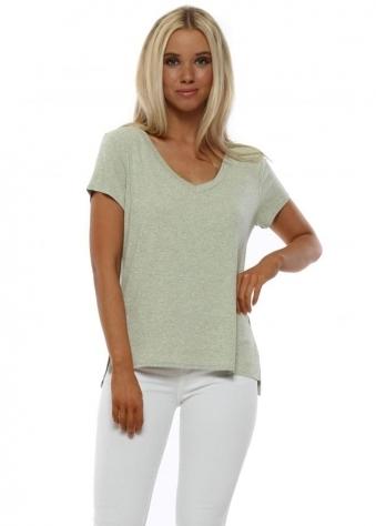 Sassy Lemon Melange Jersey T-Shirt