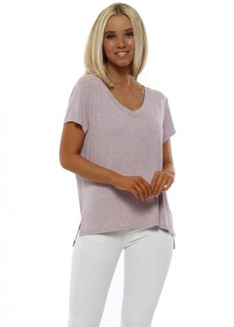 Sassy Blush Melange Jersey T-Shirt