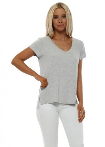 Sassy Milky Rose Melange Jersey T-Shirt