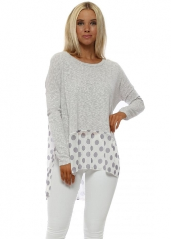 Selena Milky Rose Slub Knit Spotty Hem Top
