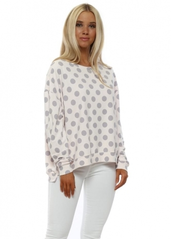 Saffron Spotty Milky Rose Classic Sweater
