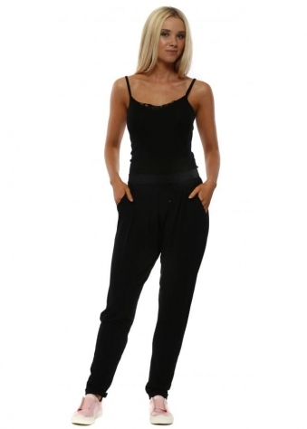 Black Chillings Loose Fit Casual Pants