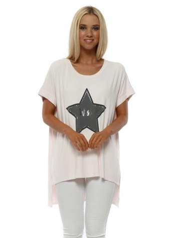 Wish Upon A Star Milky Rose Tunic Tee