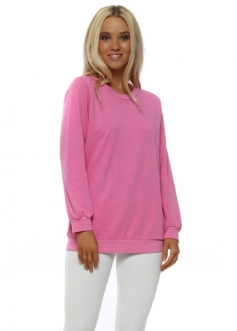 Remy Bubblegum Tie Back Split Sweater