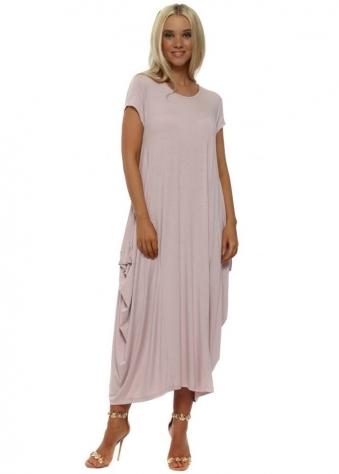 Pink Oversized Parachute Maxi Dress