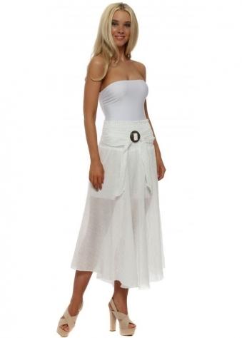 White Belted Skirt